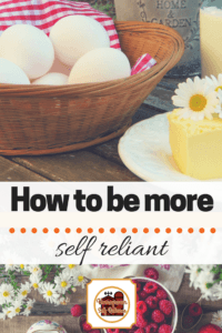Have you ever wondered how you can be more self reliant? This post gives lots of ways that each one of us can be more self reliant.