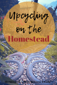 Upcycling on the Homestead - be green and save money! Read this post to find out what you can reuse and repurpose on the homestead to save money.
