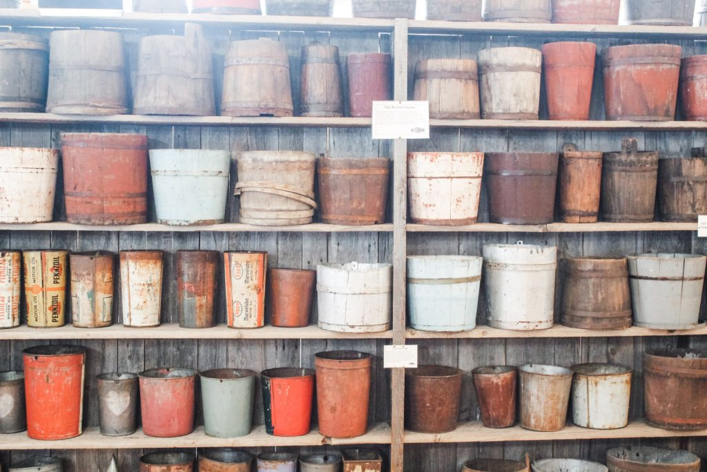 Buckets are a wonderful upcycling item.