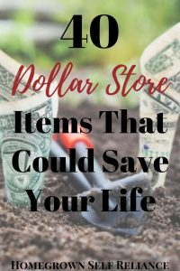 Prepping can be expensive! But you can get 40 things at the Dollar Store that could save your life! Read this post to find out what you should stock up on for a buck!