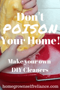 Are you poisoning your home? Why not try making your own DIY non toxic cleaners? It's easy, read how to here! #diycleaners #nontoxic