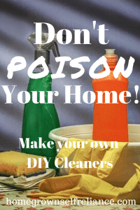 Are you poisoning your home? Find out here how easy it is to make your own non toxic, DIY cleaners! #diycleaners #nontoxic