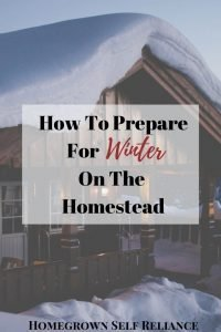 Winter is fast approaching. Are you ready for it? Here are some things you can do to prepare for winter on the homestead, to make life easier through the coming cold months! #winter #homesteading