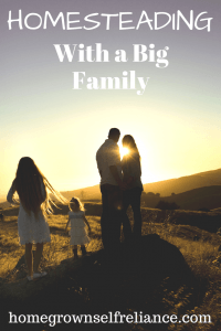 When you have a big family, sometimes it's tough to think about taking on one.more.thing! Here are some great tips to make homesteading with a big family easier! #homesteading #homesteadtips #farmlife