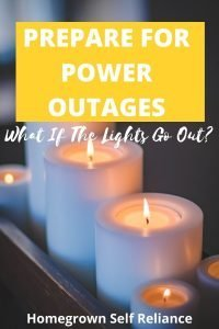 How do you prepare for power outages?