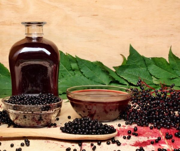 Elderberry syrup is excellent for colds and flu