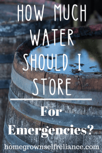Do you know how much water should be stored for emergencies? Learn this and a lot more about water storage, here! #emergencyprep #prepping #prepper
