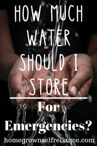 Do you know how much water should be stored for emergencies? Read here about this and a lot of other water storage tips! #emergencyprep #prepping #prepper