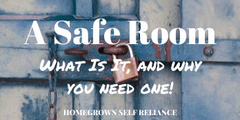 A Safe room - what is it, and why you need one!