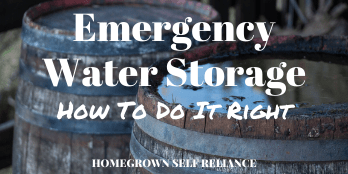 How to properly store water for emergencies