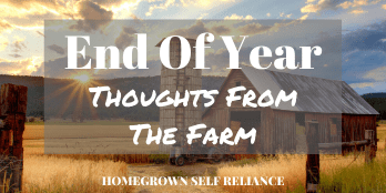 End of year thoughts from the farm