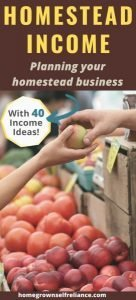 Do you have land and want to make an income from it? Try creating your own homestead business! Here are our best tips on creating your very own homestead income, with 40 business ideas. #makemoneyhomesteading #homesteadincome