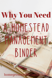 What is a homestead management binder, and why would you need one? It's a great way of keeping things organized on the homestead, as well as tracking expenses so you can reduce those expenses. Find out the best homestead management binders here!