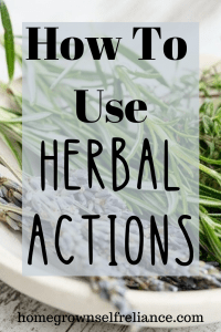 Herbal actions are the effects an herb has on the body. Here you can learn how to use these herbal actions to discover the best medicine for whatever ails you! #herbal #homeremedies #apothecary