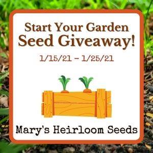Start Your Garden Seed Giveaway from Mary's Heirloom Seeds
