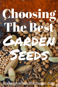 Choosing the best garden seeds