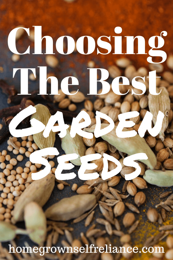 Anxious to start your garden but not sure how to choose the best garden seeds? Here are some great tips to choosing the best seeds for your vegetable garden! #gardening #growyourown