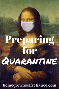 Are you worried about a quarantine in your area? Here are some steps you can take now, to prepare yourself for the possibility. Be prepared, not scared. #emergencyprep #quarantine #preparedness #prepping