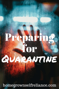 Are you prepared for a quarantine? In these uncertain times, it's best to be prepared for the worst. Here you can find helpful tips and tricks for surviving a quarantine. #emergencyprep #preparedness #prepping #quarantine