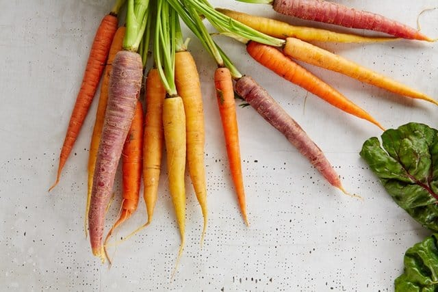 Baby carrots are fast growing vegetables