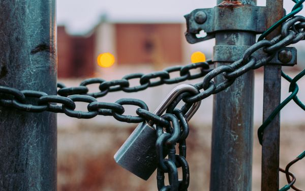 Add locks on gates for home security