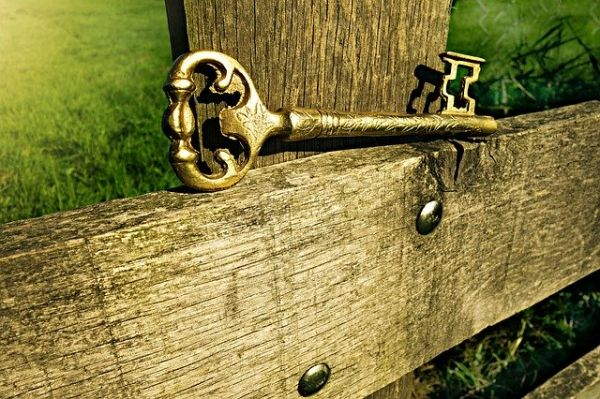 Key on fence