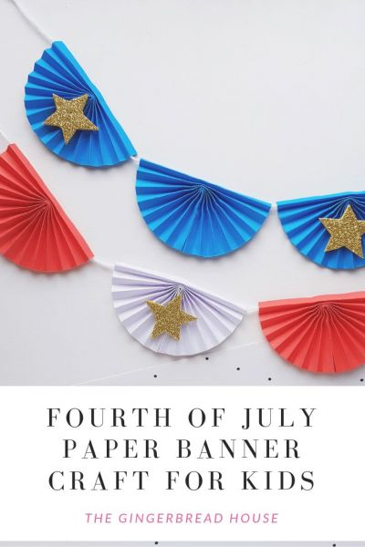 Paper banners are a classic decor item for your old fashioned 4th of July celebration