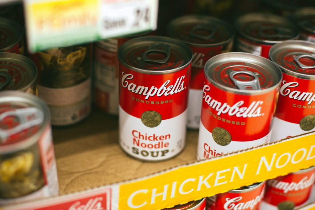Canned food should be stored to prepare for natural disasters