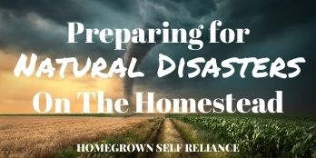 Preparing for natural disasters on the homestead