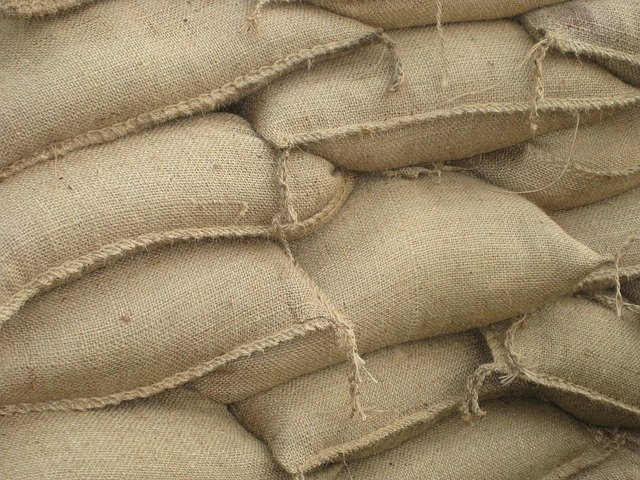 Sand bags are helpful for natural disasters