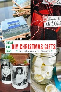 Cheap an Easy DIY Christmas Gifts - gifts from craft bloggers collage