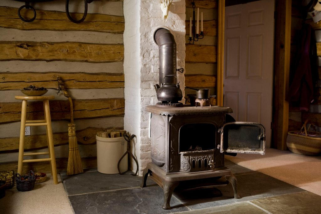 A wood stove makes it easy to cook without power