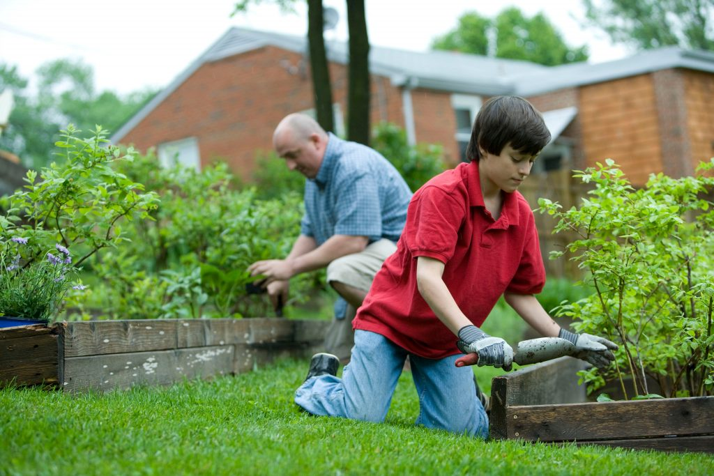 Growing a garden with the family is a great way to become more self sufficient
