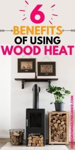 6 benefits of using wood heat, with picture of wood stove