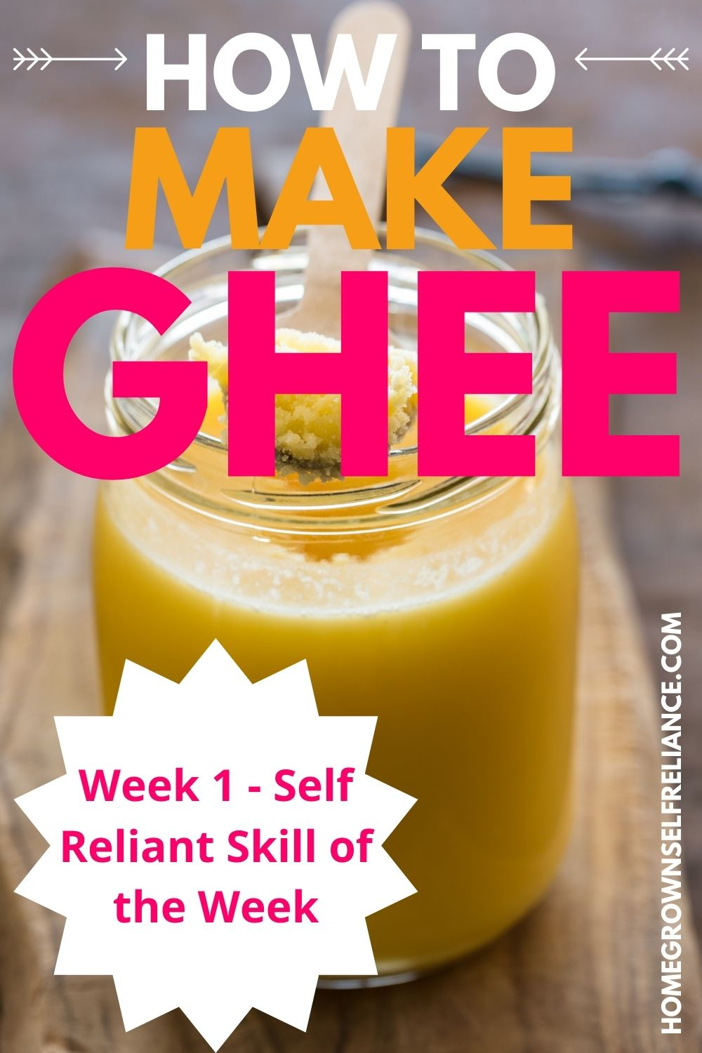 how to make ghee, How To Make Ghee