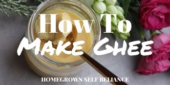 How to make ghee - Homegrown Self Reliance