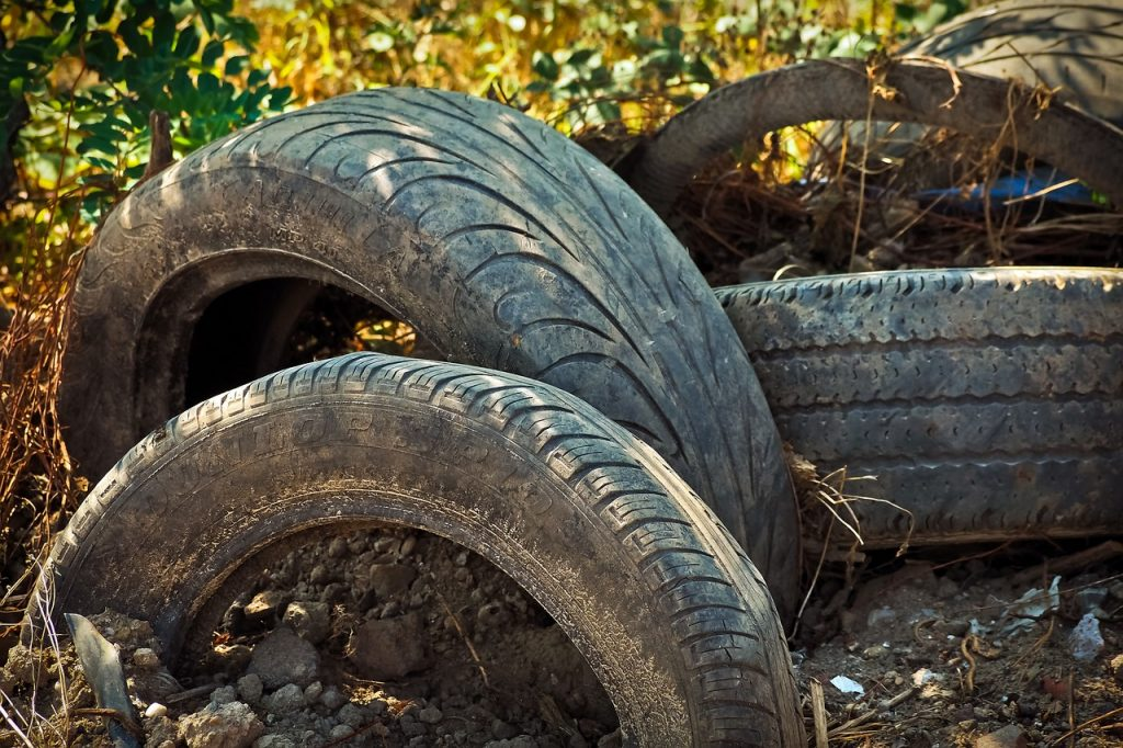Old tires can make good chicken dust baths.